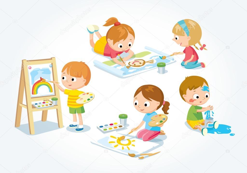 Illustrazione Di Creatività Per Bambini Vettoriali Stock