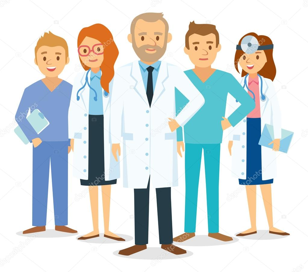 Doctors And Other Hospital Staff Stock Vector C Olga1818 110337952
