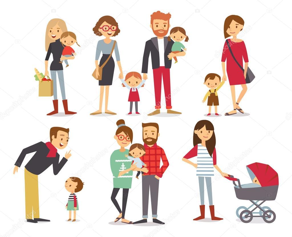Personas De La Familia De Dibujos
