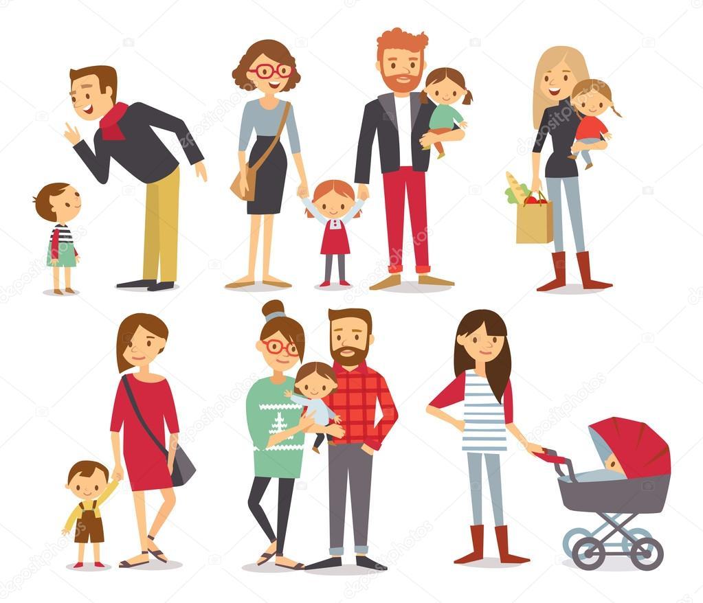 家族漫画イラスト ストックベクター Olga1818 110339318