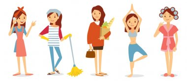 Vector set of house keeping stock vector