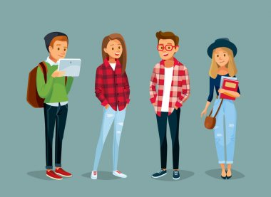 set of students illustration