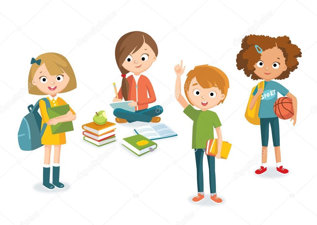 conjunto de niños y niñas adolescentes — Archivo Imágenes ... 7180b23287b6