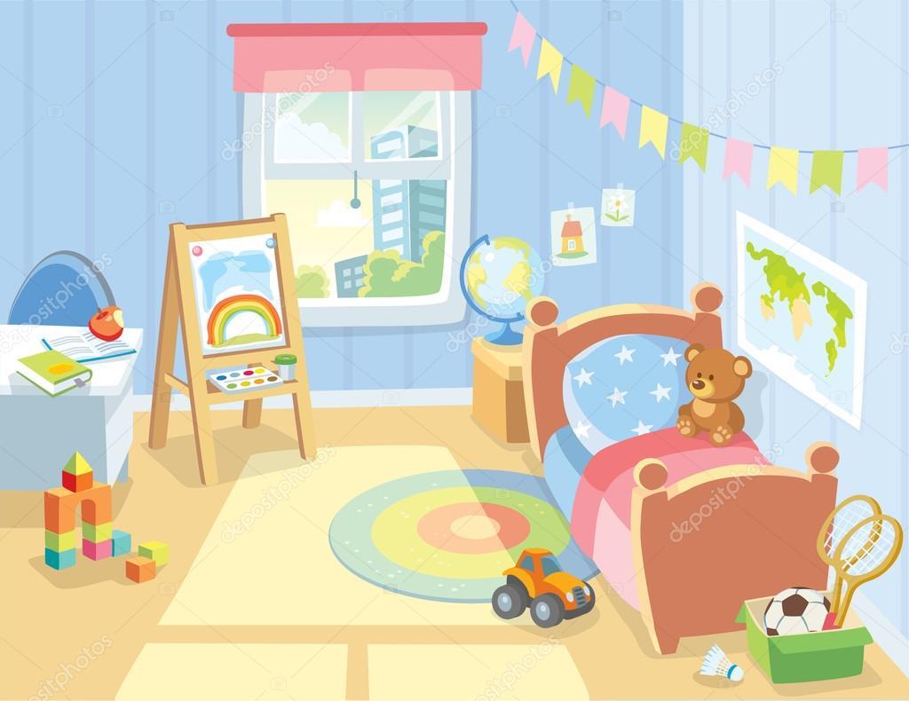Cozy Children S Bedroom Stock Vector C Olga1818 79090812