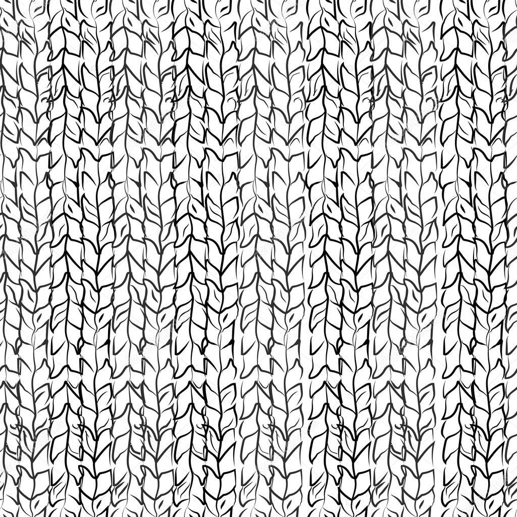 punto gráfico dibujado de la mano de patrón — Vector de stock ...
