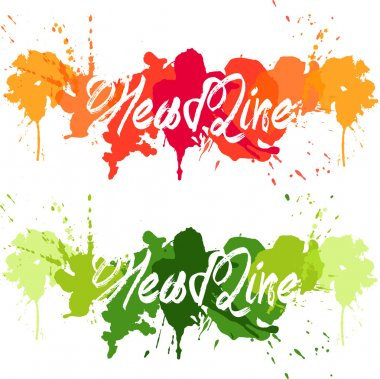 headline color splash orange,red,yellow  and green