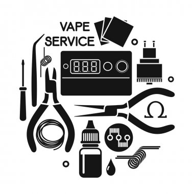 Vector illustration of vape service