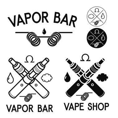 Vape shop and bar logos