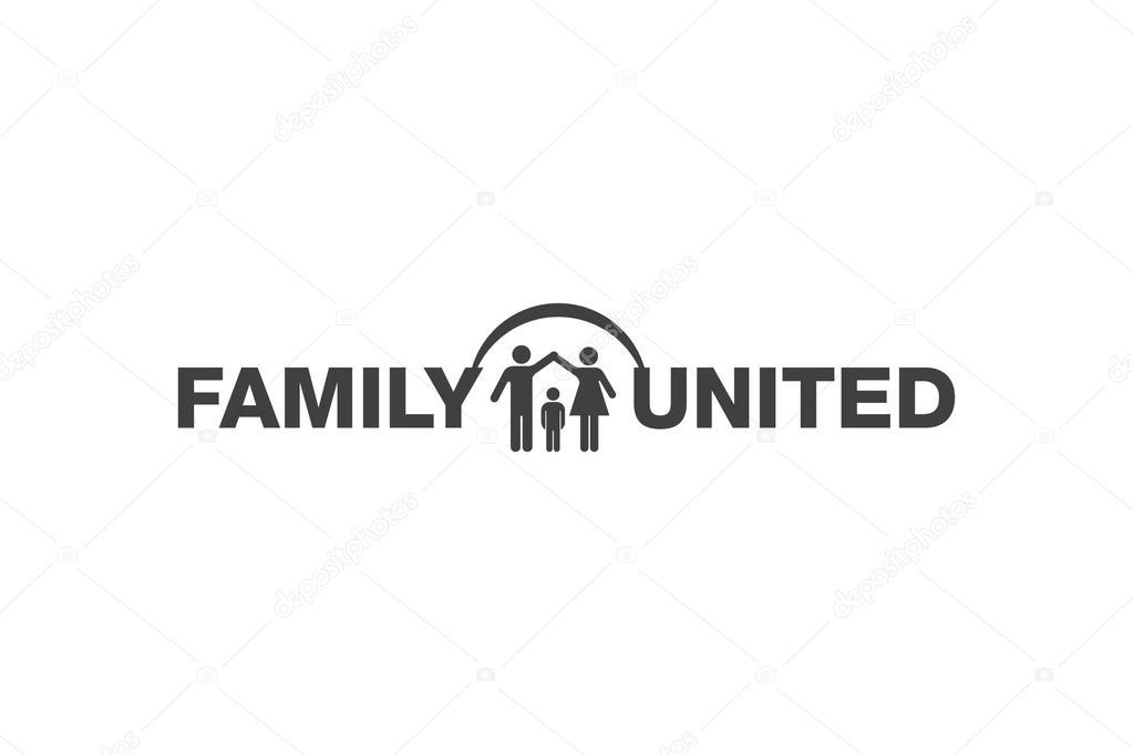 Simbolo Familia Unida Familia Unida Logo Vector De Stock