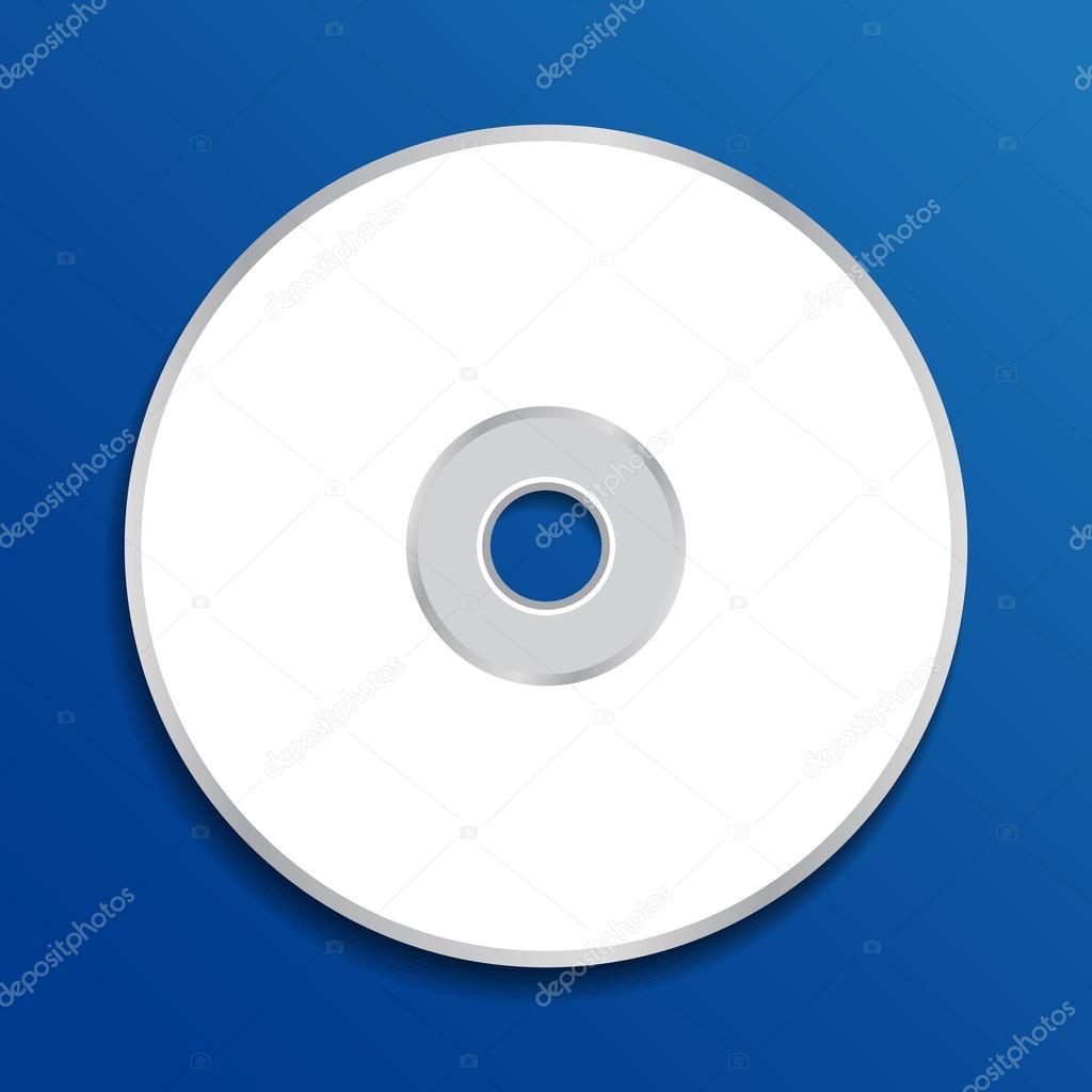 Cd Template | Dvd Oder Cd Vorlage Auf Blauem Hintergrund Stockvektor C Anigoweb