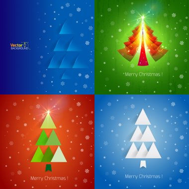 Christmas greetings and trees