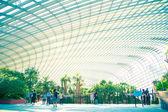 21 július, Szingapúr 2014. A park kertjében a b üvegházhatást okozó