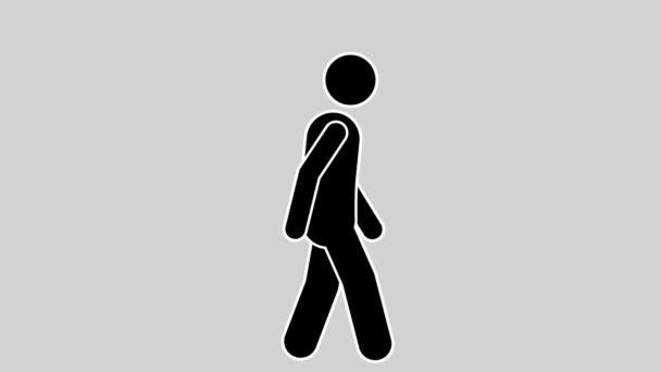 Pálcikaember gyorsan séta a ciklus-az alfa Matt