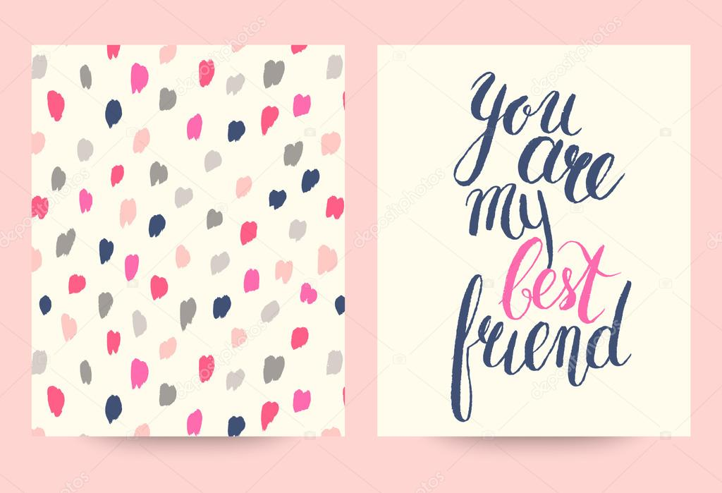 You are my best friend cards template — Stock Vector © AmmaShams