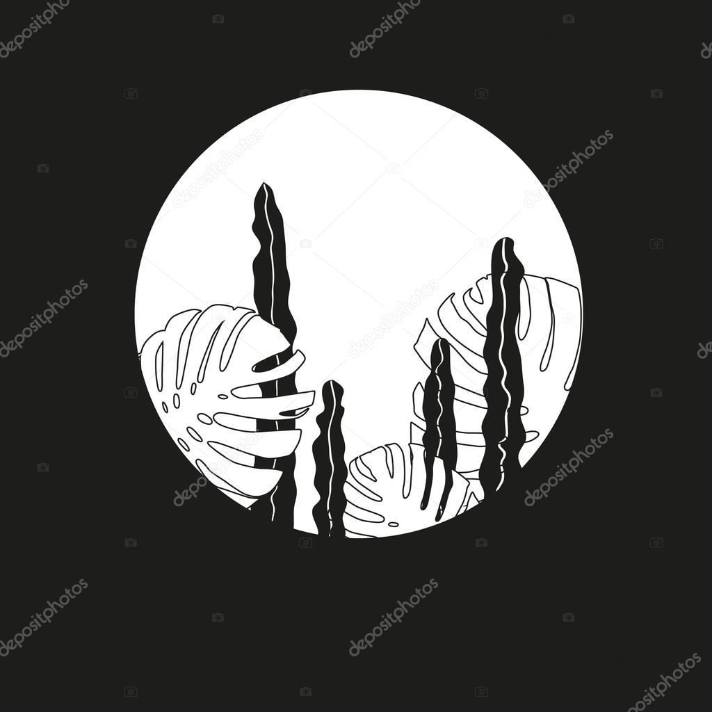 Minimalistic tropical plants illustration 11