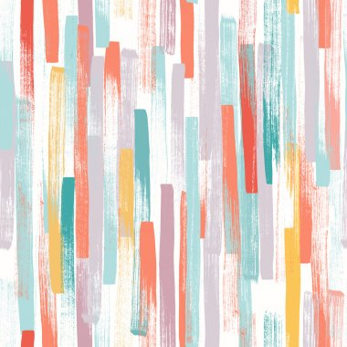 Seamless vector pattern made by hand drawn thin paint strokes. In happy pastel colors. clip art vector