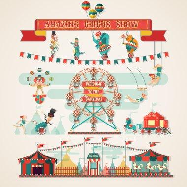Amazing Circus Show elements