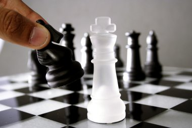 Chess king down - Game over