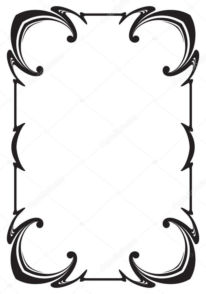 Border frame molding line deco vector label — Stock Vector © 4ek ...
