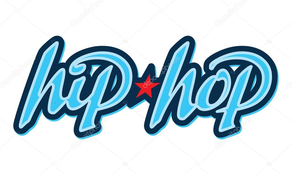 hip hop schriftzug im graffiti stil stockvektor 4ek. Black Bedroom Furniture Sets. Home Design Ideas