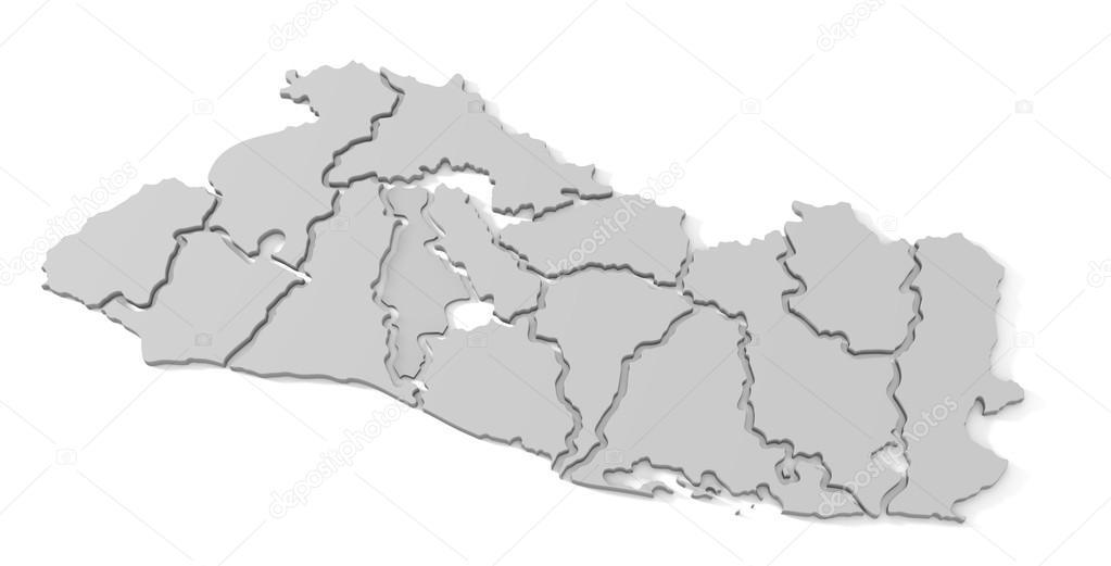 Mapa De El Salvador Fotos De Stock Bertolo 82372716