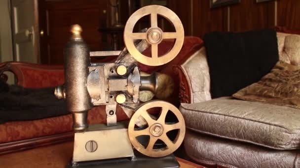 VINTAGE MOVIE PROJECTOR (DOLLY MOVE) Antique Furniture in Background (Variation #2)