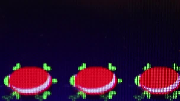 Classic Video Game - Medium Macro 'Frogger': frog, turtles, logs