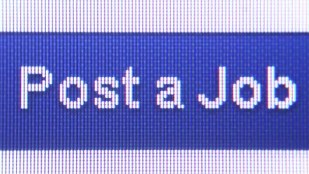 JOB HUNTING ONLINE - Employer Posts Job