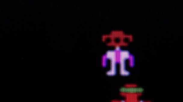 Robotron klasszikus videójáték makró Ecu hős halála
