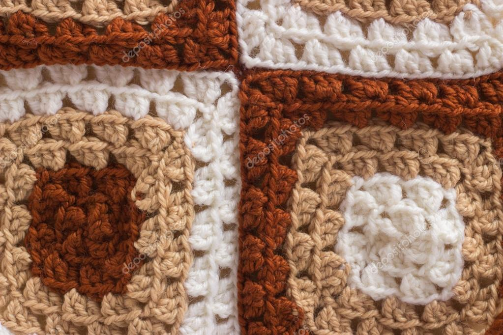 Patrón de fondo macro de hilo de lana de ganchillo — Fotos de Stock ...
