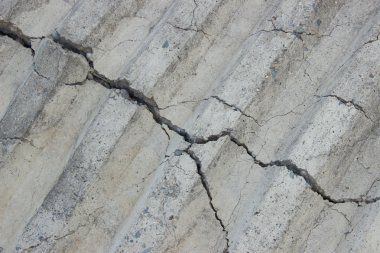 Paving slabs of concrete on the street harvested for laying trac