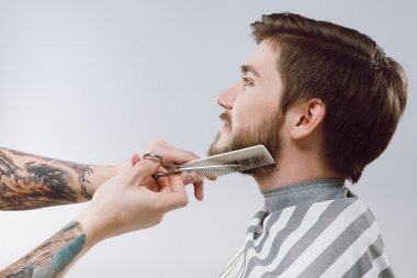 Male client at barbershop