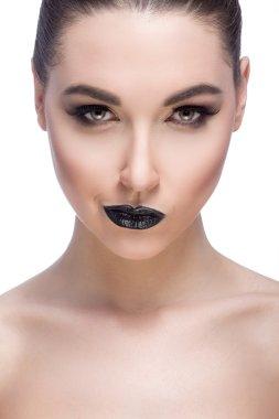Beautiful make up model at studio
