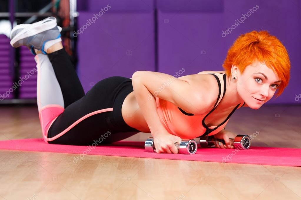 Are Redhead female fitness girls aside!