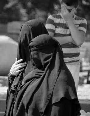 Muslim veiled woman