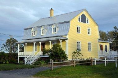 Yeşil bahçeli güzel bir ev.
