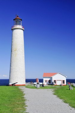 Canada, Quebec, the lighthouse of Cap les Rosiers in Gaspesie