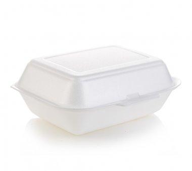 Box white isolated stock vector