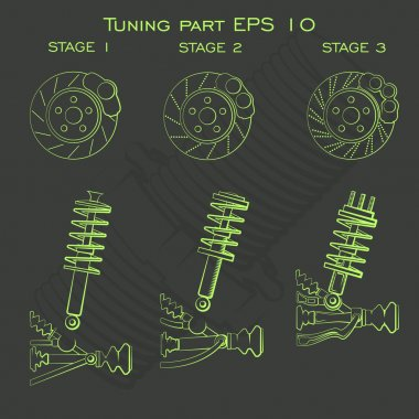 Tuning part suspension