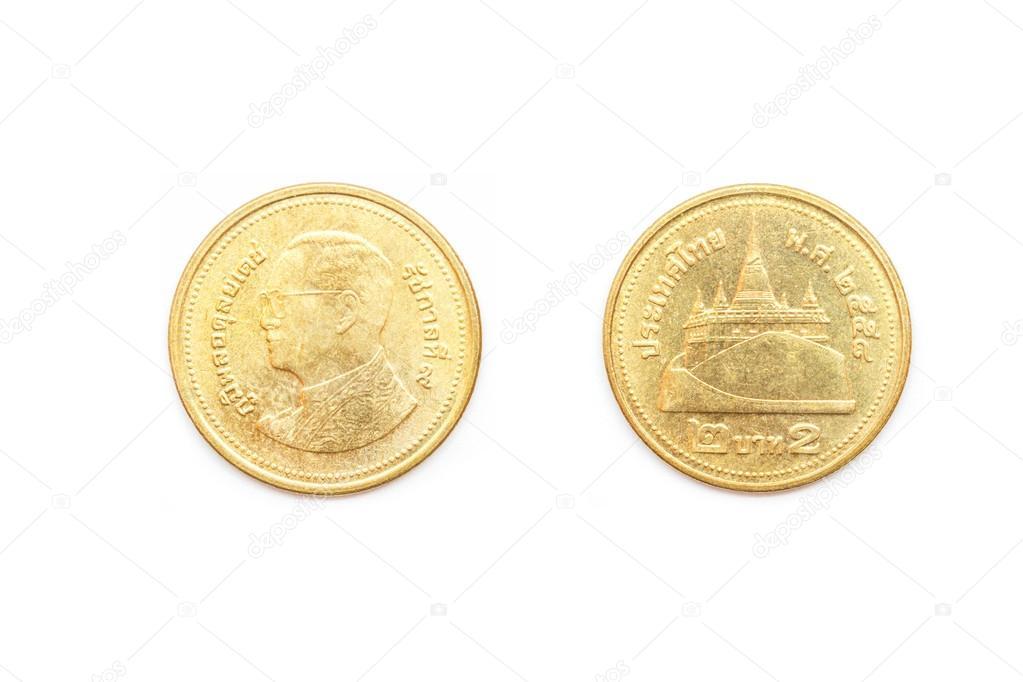 タイ コイン 2 バーツ — ストッ...