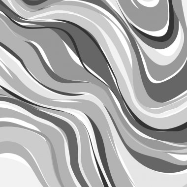 Creative art illustration. Vector image. Marbled surface. Beautiful unique handmade texture. Liquid paint. Painted waves. Unusual artistic background. Abstract black and white art.
