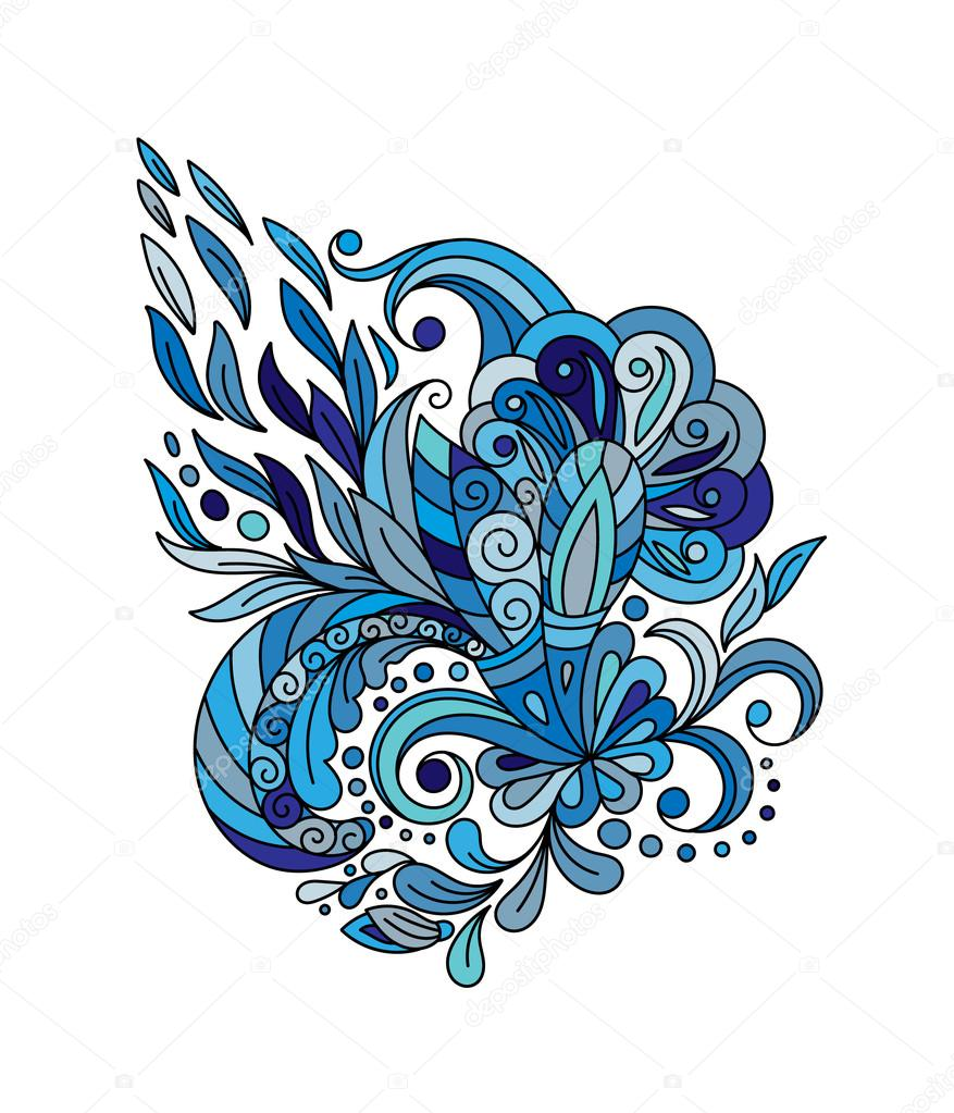 ethnic floral zentangle doodle background pattern circle in vector rh depositphotos com Adult Coloring Vector Henna Wallpaper