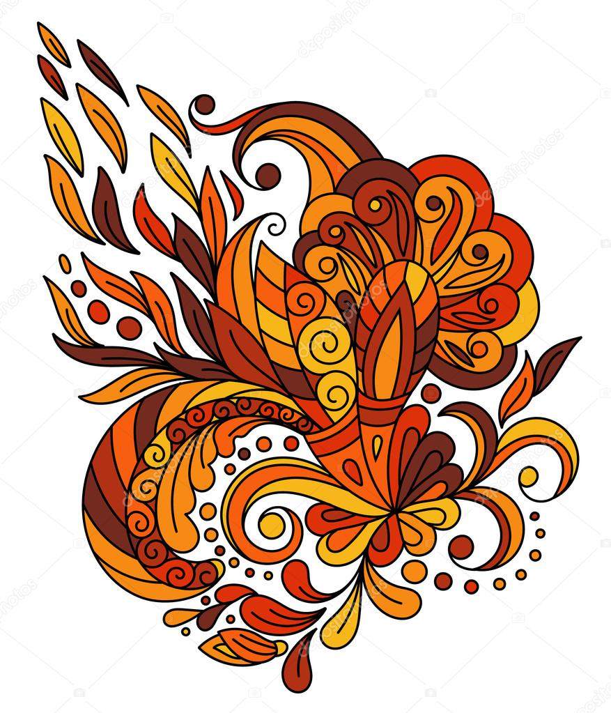 Ethnic floral zentangle, doodle background pattern circle in vector. Henna paisley mehndi doodles design tribal design element.