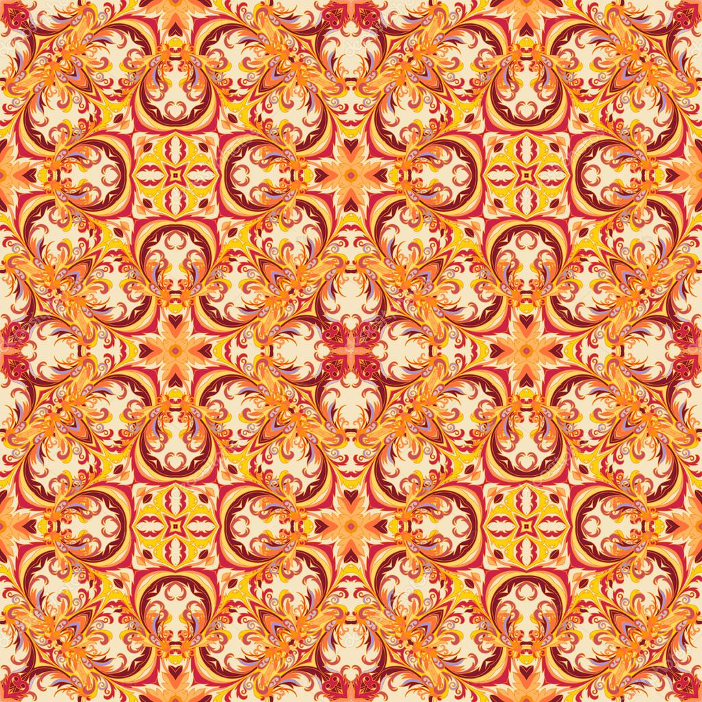 Papier Peint Floral De Style Baroque Modele Vectoriel Sans Soudure