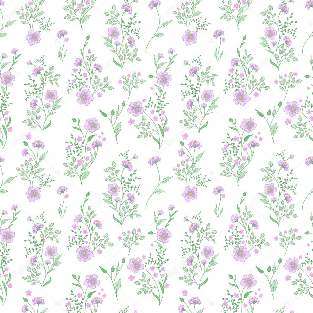 Small Flower Pattern Vintage Floral Seamless Background Delicate