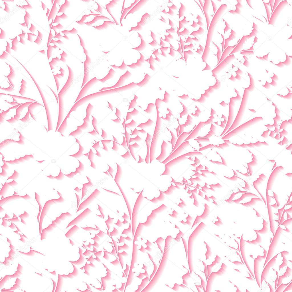 Vector floral 3d seamless pattern background for wedding and vector floral 3d seamless pattern background for wedding and invitation cards decoration vetores de stopboris Image collections