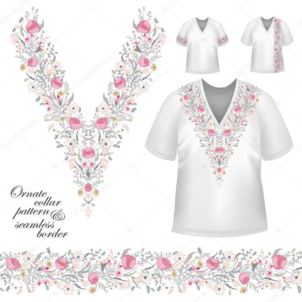 Vector diseño vintage de cuello — Vector de stock © leezarius #118829070