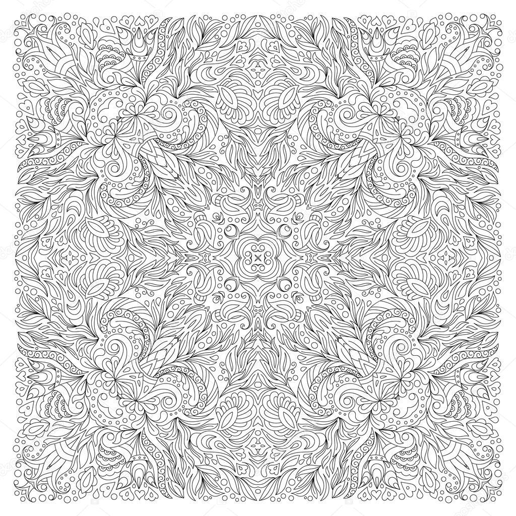 Kolorowanki Ksiazki Kwadratowych Dla Doroslych Wzor Kwiatowy