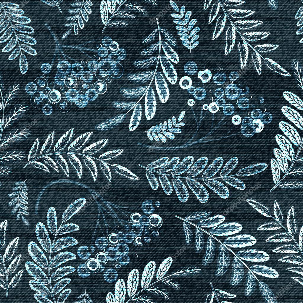 Vector del dril de algodón florales de patrones sin fisuras. Fondo ...