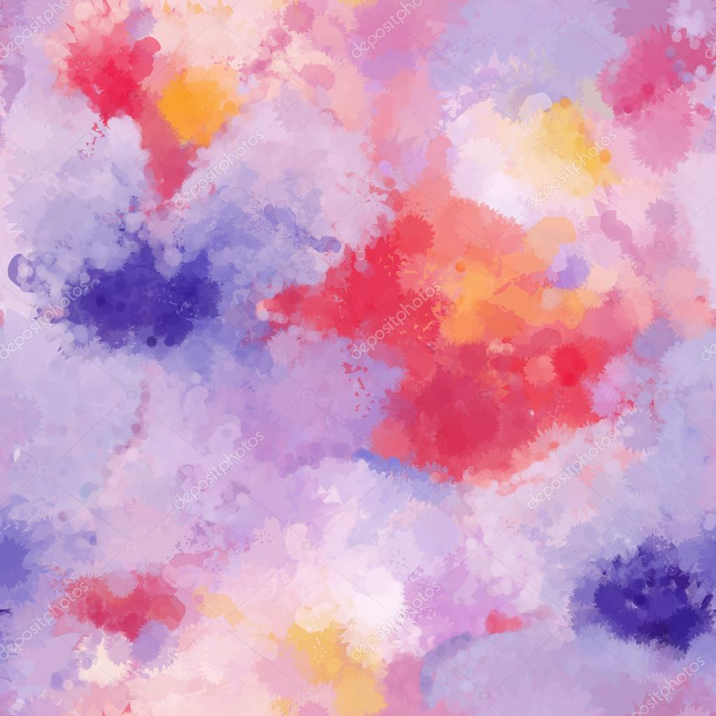 Seamless organic watercolor background soft coloured pattern in vector